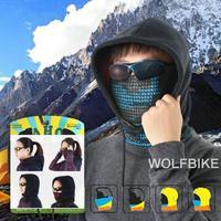 WOLFBIKE Men Women Winter Sports Fleece Thermal Cycling Cycle Bicycle Snow Skiing Ski Skating Motorcycle Hat Mask Headwear Scarf
