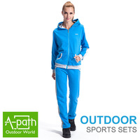 Autumn winter Warm Outdoor women sport suit clothing set women hooded+pants 2pcs suit Lady active casual clothes set sportwear