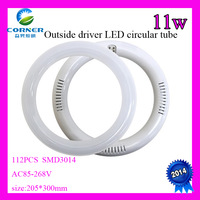 FREE SHIPPING 11W 12W 18W led circle Lights, round tube lights, Annular tubes, AC180-265V LED Round Ceiling Llight