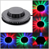 Mini Rotating 8W 48pcs LEDs Red Green Blue Light Sunflower LED Lamp / Stage Light Input Voltage AC 90-240V  (Black )