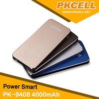 1 Piece* PK-9408 4000mAh Power Bank in Gold Color+1 Piece* Micro-USB Cable+ Velvet Bag