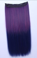 Kevin Hair Long Straight Synthetic Full Head Clip in Hair Extensions