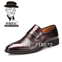 2013 new men, 100% first layer of leather, fashion, casual, dress shoes, dress shoes, men leather shoes, free shipping