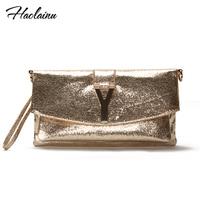 HOT !women long Champagne Gold Y clutch!2014 fashion casual shoulder bag!2014 designer handbags high quality!desigual handbag!