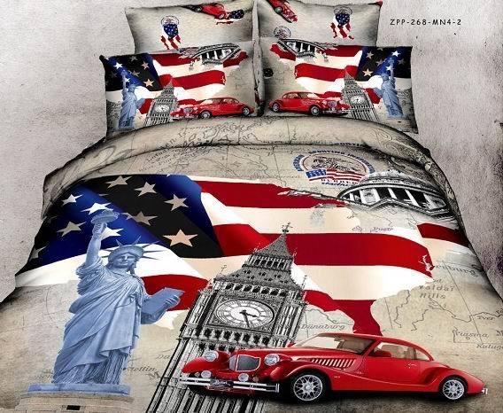 amerikaanse vlag en het standbeeld van vrijheid auto beddengoed sets ...