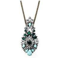 Hot sale Fashion shourouk crystal pendant  necklace statement necklace chain necklace & pendant