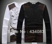 Free shipping cheap Male chinese style long-sleeve T-shirt autumn p70