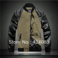 Free shipping cheap 2013 spring and autumn jacket patchwork male jacket plus size plus size thin outerwear slim men's clothing