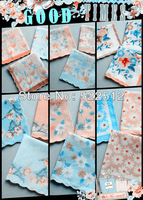 30pcs/lots 28*28cm 100% cotton 42 branch flower handkerchief  womens hanky pocket square