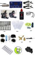 Complete BlackTime ink 2 Machine Tattoo Kit Machines Guns Equipment 250ml Ink Gun Set Tatoo
