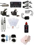 Complete Black time ink 2 Machine Tattoo Kit Machines Guns Equipment Ink Gun Set Tatoo 250ml inks