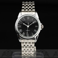 2014 New Luxury Steel Case mens quartz watch Classic Concise Dial Stainless Steel Band Japan Quartz Movement wristwatch FreeShip