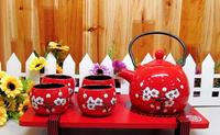 Ceramic tea set teapot tea cup set japanese style pot cup set tea set