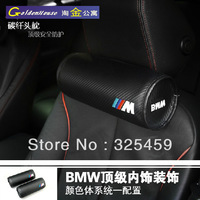 Newest type M  badge carbon fibre neck pillow, car neck cushion, M Sport edition, comfortable pillows