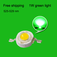 Free shipping LED emitting diode Green light led diodes 1w led green beads lamp 525-529nm plant growth light fishing light