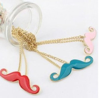 Minimum order is USD10! New Arrival  Fashion Mini Vintage  Mustache Shape Necklace for Women Free Shipping