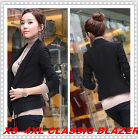 New 2014 Spring and Autum Women Blazers All-Match Blazers for Women Thick Material High Quality Plus SizeS M L XL 2XL 3XL 4XL