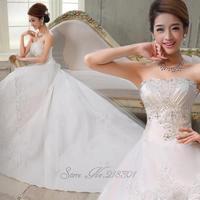 Elsmere winter bandage train bride dress white tube top type princess wedding dress tube top vestido de novia vestido de noiva