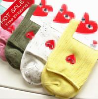 6 pairs/lot ! Hot sales! Lowest price Wholesale cotton women's sock warm comfortable fashion colorful winter dress socks women