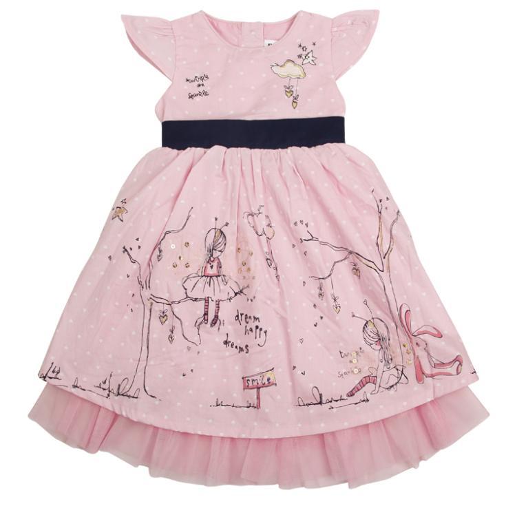 Free Shipping Nova fashion baby girls princess dress 2013 new arrive beautiful cotton dress with print and lace(China (Mainland))