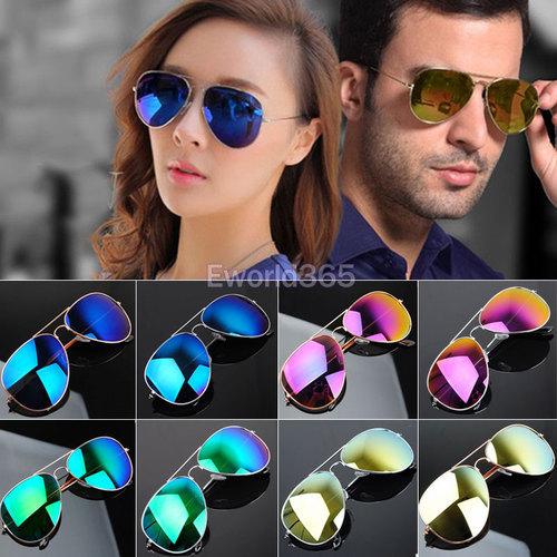 50% off Hot Retro Vintage Womens Men Mirrored Aviator Lens Summer Sunglasses Bans Holiday Sun Glasses oculos de sol feminino(China (Mainland))
