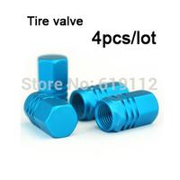 20pcs/lot Aluminium alloy Tire Valve Matel Tyre Wheel Round Ventil Valve Stems Cap For Auto Car Truck  Free shipping