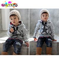 2014 sudaderas kids brand children' clothing cute baby girl / boy warm winter clothes dress fleece hoodies sweaters jacket ropa