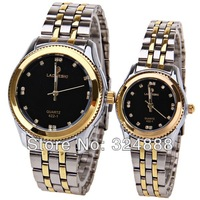 free shipping 2013 new wholsale couple watches retail quality watch fashion wristwatch stainless steel strap watch diamond watch