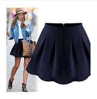 2014 Women Zipper Pleated Bust Skirts W3322