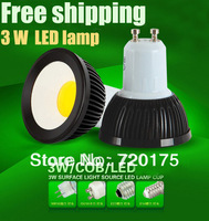 Free shipping 6 PCS/lot LED  Lamp LED Bulb Light 3W GU10 / Mr16 / E27/ E14 AC85~265V White/Warm white LED Bulb Light SpotLight