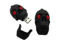 Skeleton Bone Shinning Eyes USB 2.0 Flash Drives 2 4 8 16 32GB Memeory Pendrive Storage Devices Designer Free Shipping Cheap