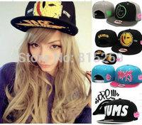 Yums hat smiley hat hiphop hip-hop  cap snapback cap adjustable baseball cap free shipping