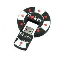 Poker Stars Casino Chips Model USB Flash Memory Drive Plastic Pen Drives Designer 2.0 Storage Devices Micro USB Free Shipping