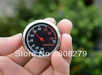 NEW Mini Steel Core Mechanics Car Thermometer Moisture Meter Hygrometer