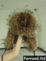 Real Genuine Raccoon Fur Russian Style Women Cap/Chapka/Hat For Winter Series