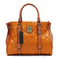 Genuin Leather + Canvas Bags Plaid Casuel Bag Women Handbag Casual Shoulder Bag Bolsas Femininas 2014 Luxury Tote Bags Stripes