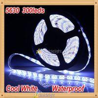 Super Bright DC12V 5M 5630 SMD 300 leds IP65 Epoxy Waterproof  Cool White 6500k Flexible LED Strip Light Freeshipping