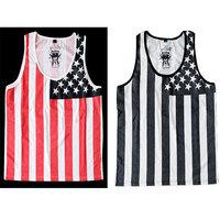 New Arrival American flag skateboard hiphop hip-hop bboy hiphop dancer loose vest fashion
