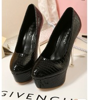 New arrival 2013 women's shoes fashion ultra high heels shoes ol elegant high-heeled single shoes