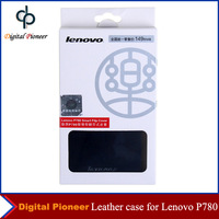 100% Original Smart Flip Leather Cover Case For Original Lenovo P780 Smart Cell Phone With Retail Package