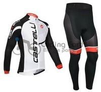 2013 NEW!!! Castelli #1 team long sleeve autumn cycling wear clothes bicycle bike riding cycling jerseys pants set