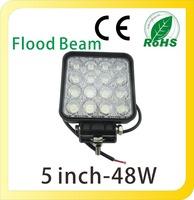 DC 12V 24V Square 48W LED Work Lights LED Flood Lights LED Spot Lights 4WD UTE OFF ROAD For Truck Boat Camping