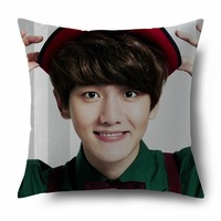 KPOP Korean Comfortable Two Sided Pillow With Beautiful PictureWhite Yin exo 12 months miracle official sided with big pillow se