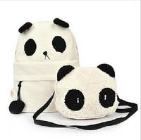 2014 Hot Cartoon Panda Backpack Fashion Panda bags Casual Women Backpack Kawaii Student School Bag Big and Small Panda Bags