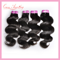4bundles/lot 5A Queen Virgin Hair products:Body Wave 100% Human Hair Extensions,Rose Peruvian Hair weave,Fast DHL Free Shipping