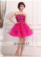 2013  fashion red  short  sexy Bridesmaid dress  wedding party dress