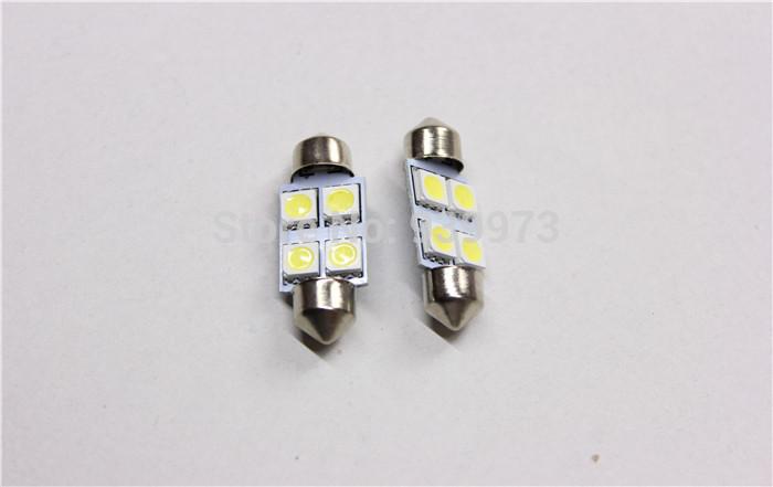 20pcs/lot white 4 SMD 4 LED Festoon Dome Car Bulb C5W 211 212 12V 36mm 31mm 39mm 42mm 4SMD 4LED 5050 Car dome light(China (Mainland))