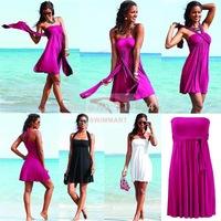 2014 Summer Novelty Bikini Dress European Style Women's tunic Sexy Dress Women Beach Cover up Magic Wrapped Chest Beach dress
