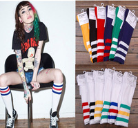 Free shipping American apparel aa socks 100% cotton thickening stripe knee-high socks stovepipe socks ayumi GD sock