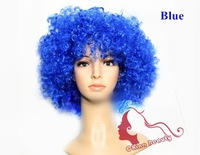 cosplay wigs Christmas football fanswig Party halloween clown wig small Afro curly carnival whimsy 10 colors for choice